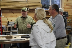 Victor Edwards hosts week long bamboo rod making classes for disabled veterans held in Grayling, MI.