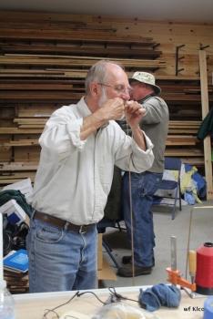 Ron again kissing the pole.