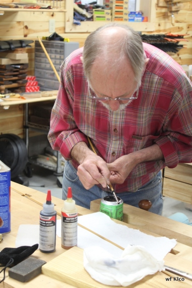 Putting on the ferrules