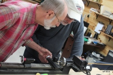 Ron and Bill on the lathe.